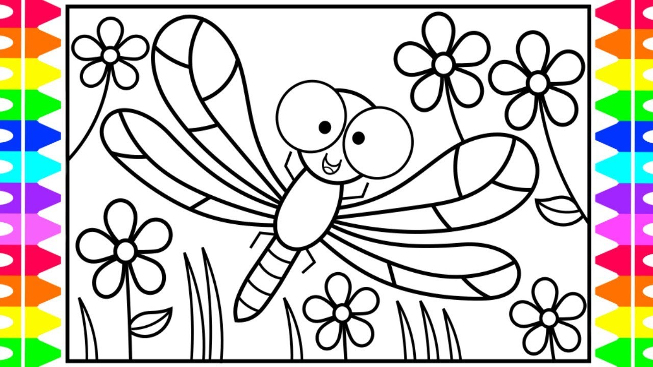 How to draw a dragonfly step by for beginners
