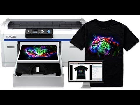 Demo Mesin Printer DTG Epson F2000 (Print Langsung di Kaos)