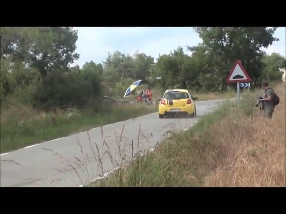 画像: フランスのラリーでラリーカーじゃない速いヤツが乱入して観客大ウケ youtu.be