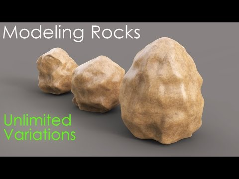 Create rocks with unlimited variations - 3ds max tutorial