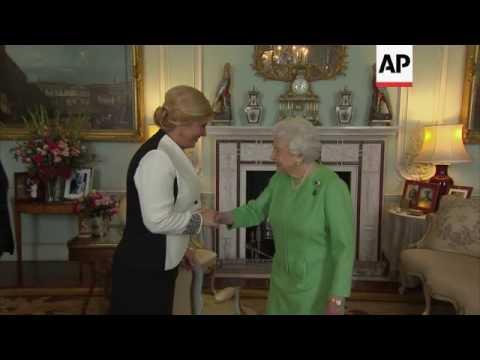 Queen Elizabeth II meets Croatian president