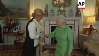 Queen Elizabeth II meets Croatian president