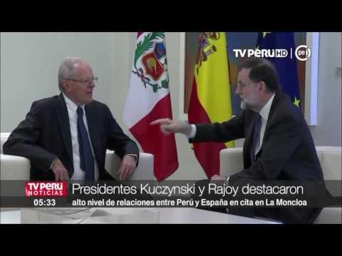 Mandatarios Kuczynski y Rajoy destacaron alto nivel de relaciones bilaterales