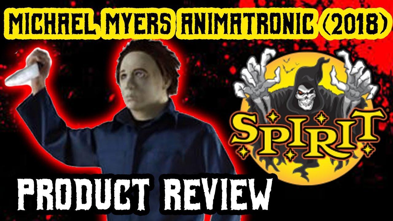 Michael Myers Animatronic Prop Demo Review H20 Spirit Halloween
