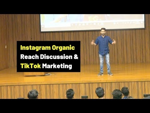 Discussing Instagram Organic Reach & TikTok Marketing | Ahmedabad University Keynote