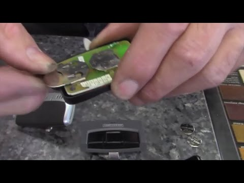 Replace Battery In Garage Door Opener Wireless Transmitters Youtube