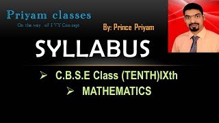 c b s e class 10th syllabus exam pattern and way of study mathematics 2017 18