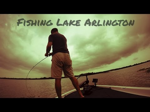 Summertime Bass Fishing On Lake Arlington Texas