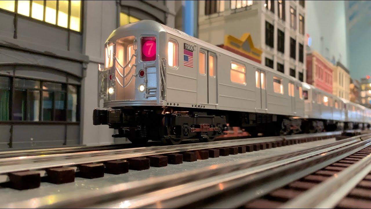 Mth O Scale New York City Subway R62a 7 Train Set Youtube