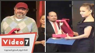 نيللى كريم وماجد الكدوانى يحصدان جائزة الأفضل دراميا من المركز الكاثوليكى
