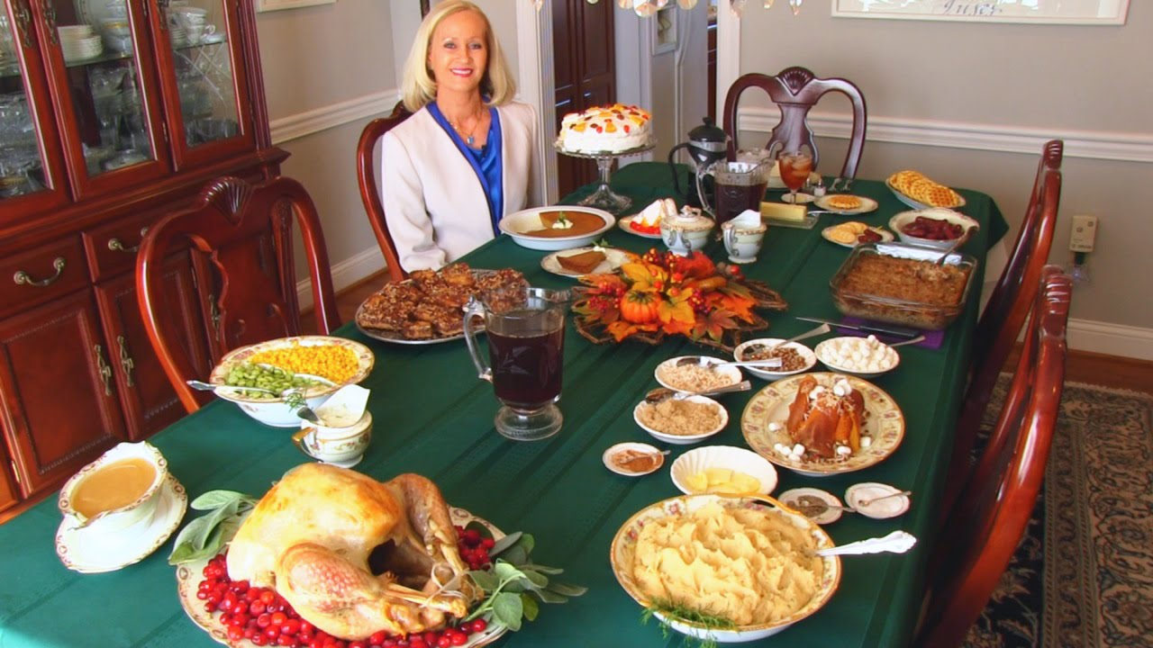 Bettys Thanksgiving Dinner Table 2014 Youtube