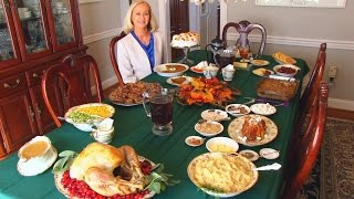 Betty's Thanksgiving Dinner Table, 2014