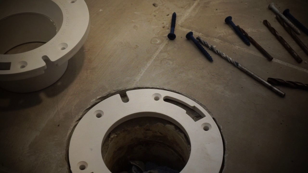 Gentil Toilet Flange Spacer Install Part 1