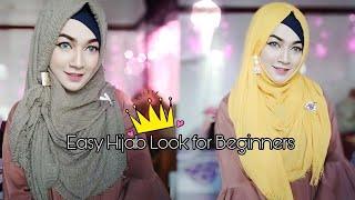 Easy Hijab Look for Beginners (Holiday special) | No headache & comfortable look | Pari ZaaD ❤