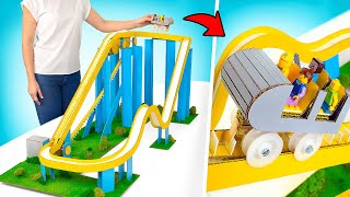 AWESOME Cardboard Slide Ride With Lego Minifigures