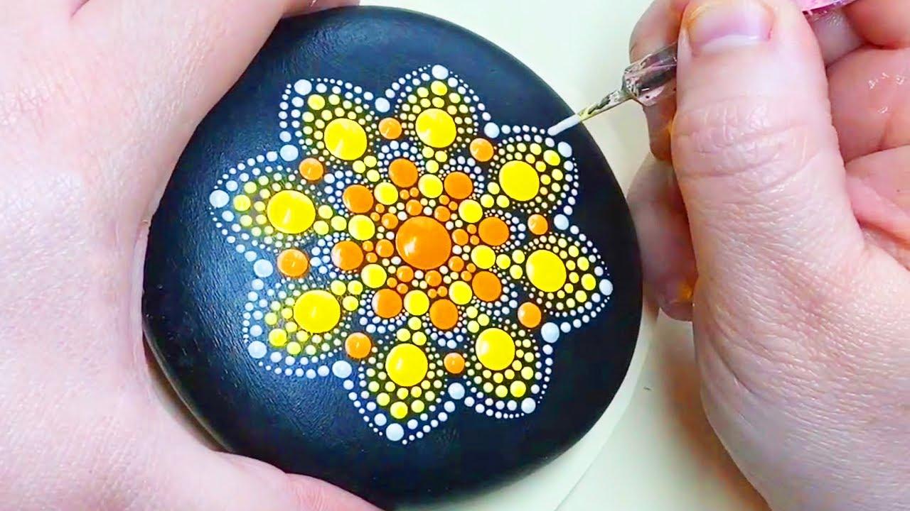 Mandala Rock Painting Step by Step | Mandala dot painting compilation | Mandala Art