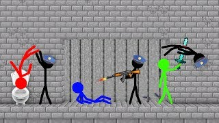 Stickman VS Minecraft: Prison Escape Jailbreak - AVM Shorts Animation