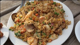 Shrimp N Scallop Fried Rice (on The Grill) Recipe