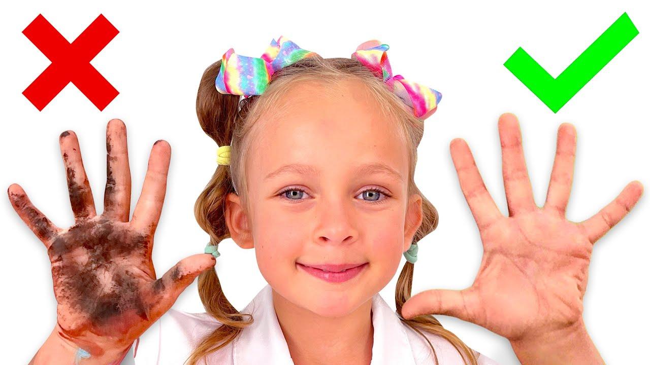 Детская песенка про умывание - Развивающие песни для детей от Майи и Маши