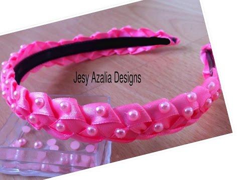 Ribbon art No; 5/beaded ribbon headband decor.