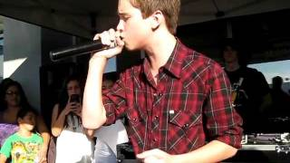 Ryan sang his new signle Every Little Thing at a meet & greet/perfo...