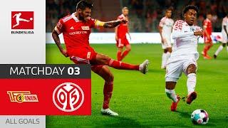 #fcum05   highlights from matchday 3!► sub now: https://redirect.bundesliga.com/_bwcs watch all goals of union berlin vs. 1. fsv mainz 05 3 ...
