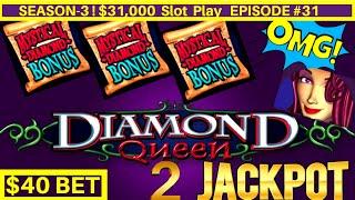 $5,000 vs HIGH LIMIT Slots | Diamond Queen Slot Machine 2 HANDPAY JACKPOTS | Season-3 | EPISODE #31