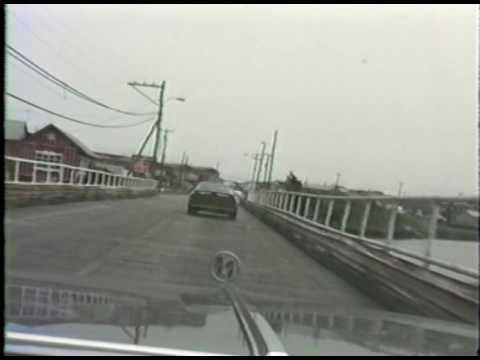 Entering North Wildwood on old wooden bridge, June 1987