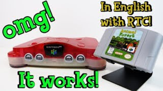 100% Working English Animal Crossing N64 Reproduction Cart (Animal Forest Nintendo 64)
