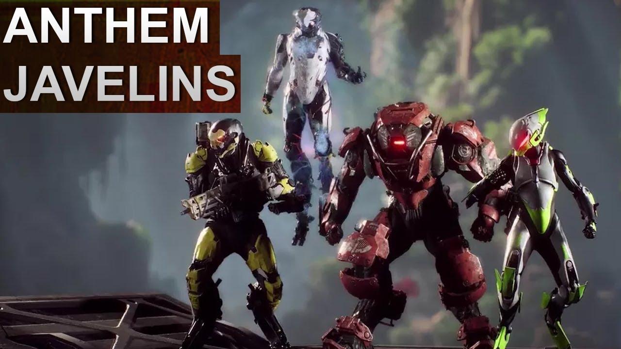 Anthem Javelins Ranger Colossus Interceptor Storm Deutsch