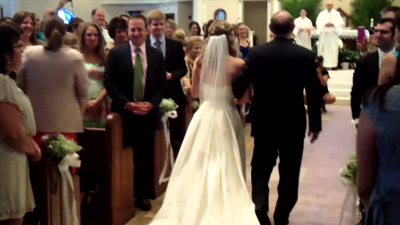 Bride Walks Down The Aisle To Her Own Violin Solo