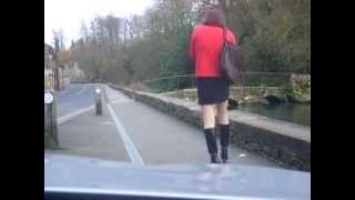 Gilly - In a village down by the river 2 ( TGirl Transvestite Crossdresser video )