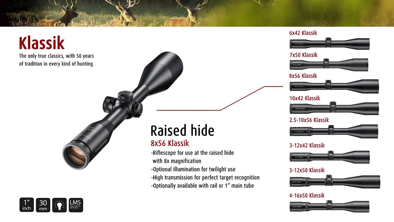 Schmidt And Bender 8X56 Hungarian 30 mm A7 Rifle Scope pupille de sortie 7 mm