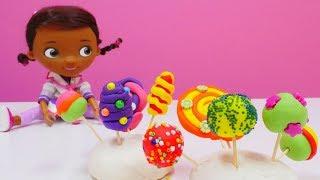 Play Doh Video für Kinder - Wir machen für Doc McStuffins kunterbunte Lollys