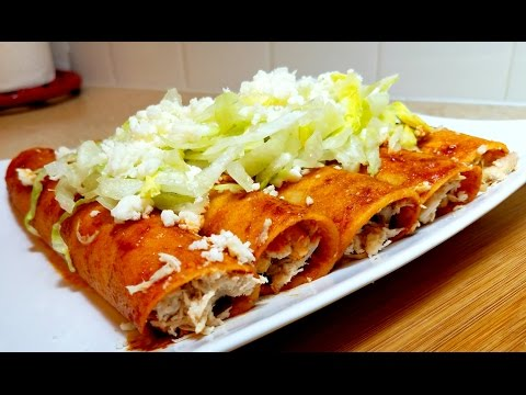 Simple Chicken Enchiladas- Enchilada Sauce Recipe
