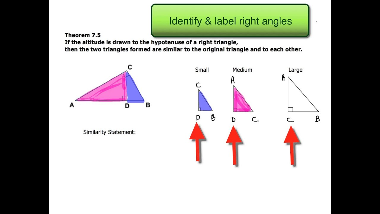 73 Similar Right Triangles Ex 1 Writing a Similarity Statement – Similarity in Right Triangles Worksheet