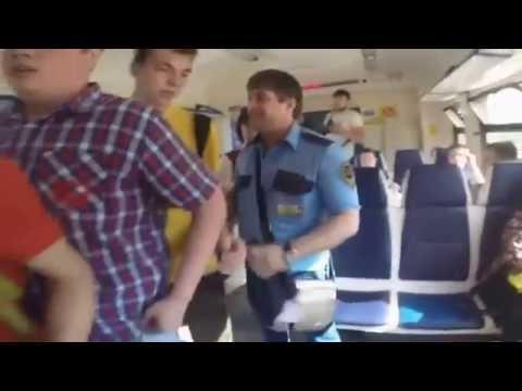 Нападение охранника в электричке