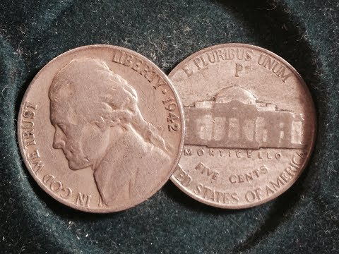 1942 Type 1 versus Type 2 Jefferson Nickel