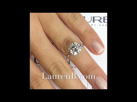 3.30 ct Round Diamond Engagement Ring