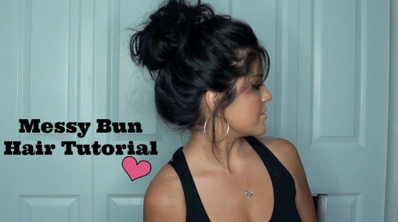 The Perfect Messy Bun Hair Tutorial Youtube