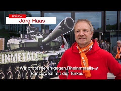 So stellen wir Sigmar Gabriel und Peter Altmaier beim Kirchentag: Sagt Nein zum Panzerdeal