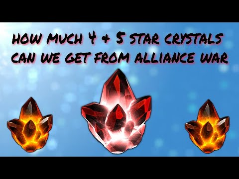 Got 5 Star and 4 Star Crystals only playing Alliance war | Marvel Contest of Champions