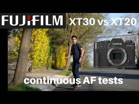 Fujifilm X-T30 vs X-T20: Playing with Continuous AF and Skateboards