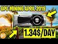 📈GPU Mining Profitability In April 2019 -💸GPU Mining 2019
