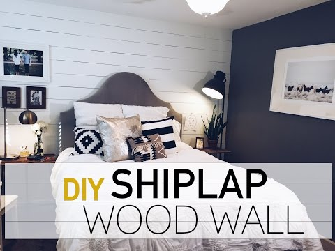 INTERIOR DESIGN: DIY Wood Wall | White Shiplap Wall | Robeson Design
