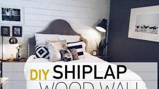 Diy Wood Wall | White Shiplap Wall | Robeson Design