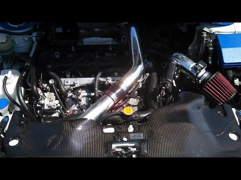 Custom 3 inch Intake with AEM dry flow filter on 2012 Ralliart