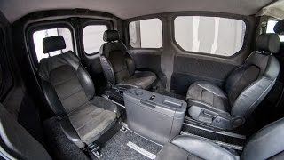 VIP переоборудование Opel Vivaro. Сиденья от Audi A6 S-Line и столик от Mercedes Viano(, 2015-04-24T12:05:07.000Z)