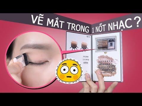 Review màu mắt 16 Brand Sixteen Eye Magazine Thần Thánh - Vẽ Mắt 1 Nốt Nhạc ??? | Tiny Loly