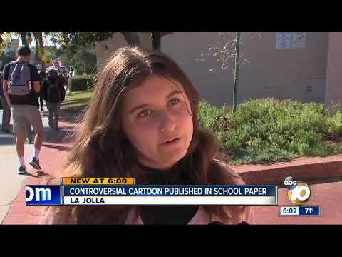 Controversial cartoon published in La Jolla High School paper